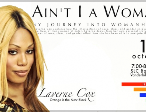 Laverne Cox speaking at the National Coming Out Week at Vanderbilt University